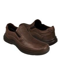 Hush Puppies Zapatos Caballero Casuales Hb-6601 Piel Chocola