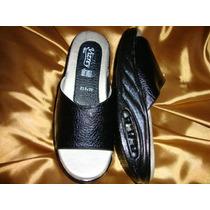 #26 27 29 Sandalias Para Dama Tipo Sueco Color Negro Cynld