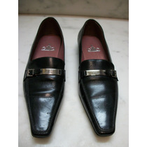Zapatos Italianos Gilio 100% Original 3.5 Mex. Negros Dama