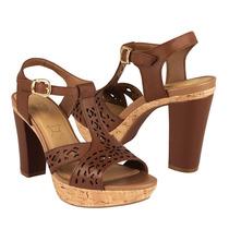 Flexi Zapatos Dama Sandalias 32003 Piel Marron