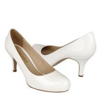Perugia Zapatos Dama Tacones 75015 Charol Blanco