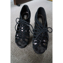 Zapatillas Wedge Tacones Steve Madden 5.5 Mx Negros