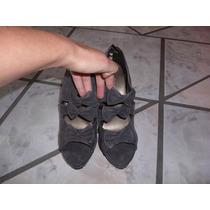 Patey Zapatos Gris, Tacon Aguja, Num. 3.5 Y 6 Mex