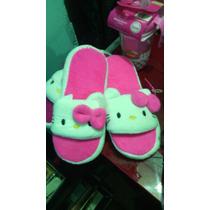 Sandalias De Peluche Hello Kitty Para Niña!