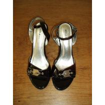 Zapatillas Abiertas Marca Styluxe Número 23.5 Color Negro