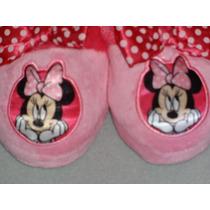 Disney Pantunflas Minnie Mouse Import Mex.#16 Usa9 L 18 Cm.