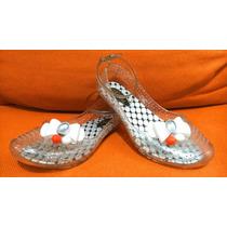 Lindos Zapatos Flats Plástico Con Pulsera Aylina No. 19 Niña