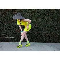 Zapatillas De Color Neon Brillante En Luz Uv 609-adore
