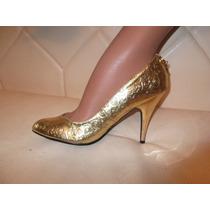 Zapatos Roca Wear Rw Stilettos Dorados 9 U.s. 6 Mex Glamrock