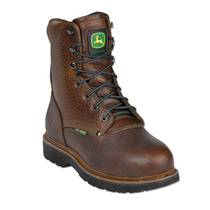 John Deere Hombres Brown Royal Oak Acero Met Lacer Botas Jd9