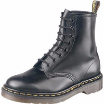 Mujer Original Dr Martens Botas Negro Mate 7inch Urban Style