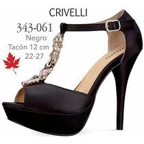 Zapatillas Crivelli Para Dama Color Negro V
