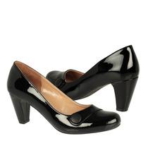 Stylo Zapatos Dama Tacones 54303 Charol Negro