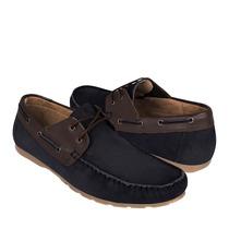 Capa De Ozono Zapatos Caballero Casuales 302101-2 Nubuck Mar