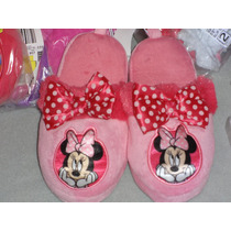Disney Pantunflas Minnie Mouse Import.# 18 Mex.11 Usa 20 Cm.