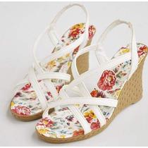 Zapatos Sandalias Wedge Verano Moda Importada