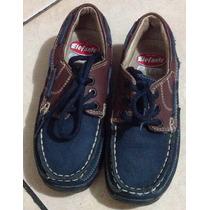 Zapato Casual Piel Como Sperry Cómodos Num. 18 Niño