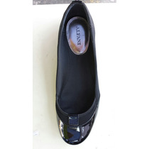 Flat Negro Con Charol Alfani 9.5 Americano 6.5 Mexicano