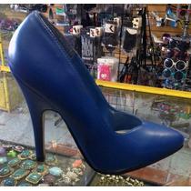 Zapatillas Pump Ellie Azul Rey De Cuero 4mx Oferta Fetish
