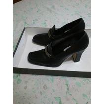 Zapatos Con Tacón Marca Emyco Negro, No. 23