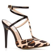 *11134 Andrea Zapatilla Ankle Strap Leopardo Tacón 11