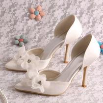 Hermosos Zapatos De Novia Td-965 Ivory