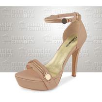 Zapato Con Tacón Para Dama Marca Cklass Maquillaje 054-01