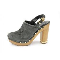 Zapatos Azul Con Café Tory Burch