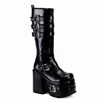 Bota Caballero Pleaser Demonia Chopper 101 Color Negro