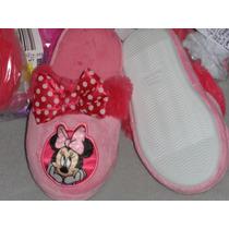 Disney Pantunflas Minnie Mouse Import Mex.#14 Usa 7 L 17 Cm.