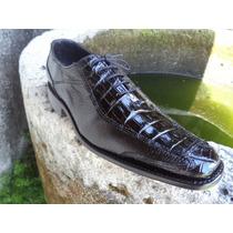 Zapato Exótico De Vestir, Cocodrilo Con Venado