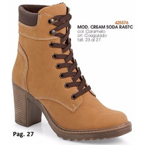 Botas Cream Soda Para Dama Color Caramelo I