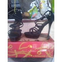 Zapatos Negros Con Tacon Del 15