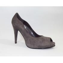 Zapatillas Catalina Vargas# 5, Tacón 11, Piel Ante