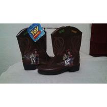 Botas Toy Story Woody Buzz Vaqueras Disney Talla 16mex Niño