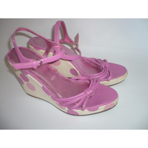 Coach Sandalias Wedge T-26 Usadas Made In Italy Envio Gratis