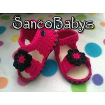 Hermosos Huaraches Y Zapatos Tejidos Para Bebe Y Niña!!!!