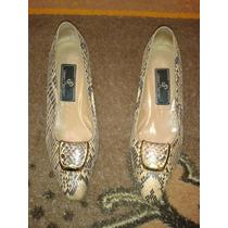 Zapatillas De Piel De Vibora Jean Pierre Número 2 Y Medio.