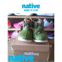 Remate De Zapatos Native #30 Color Verde Ultimo Par