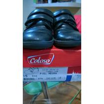 Zapatos Negros 15 Cm Ideales Para Escuela Con Envio Gratis