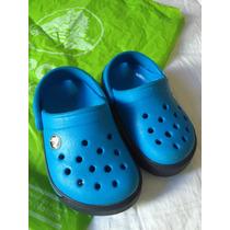 Crocs Para Bebe Talla 4-5 Nuevos Originales Color Azul
