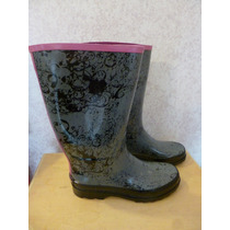 143 Girl Raisin Botas De Lluvia Color Gris Talla 7 Mexicano