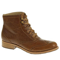 Sebago Mujeres Claremont Cognac Wingtip Boot B405104