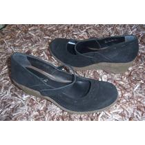 Número 4 Zapatos Andrea De Puente, Ante Negro