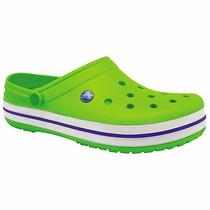 Chanclas Crocs Crocband Verde Pv