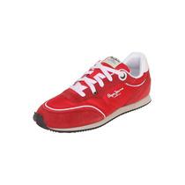 Pepe Jeans - Tenis Deportivo Casual - Rojo