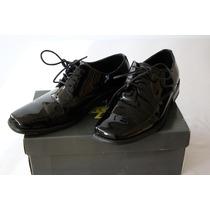 Elegantes Zapatos Charol Zengara Como Nuevos 7mx 9us