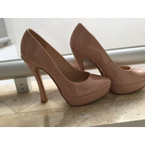 Zapato Pumps Stiletos Plataforma Piel Nude Charol 25 Studio