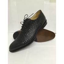 Zapatos Oxford Tejidos Hechos A Mano