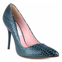 Zapatos Cerrados Zapatillas Andrea Verdes De Piel Tipo Piton